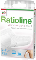RATIOLINE Wundverband 7x5 cm steril
