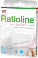RATIOLINE Wundverband 10x8 cm steril